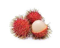 Rambutan isolate on white background. Fresh rambutan isolate on white background Royalty Free Stock Photos