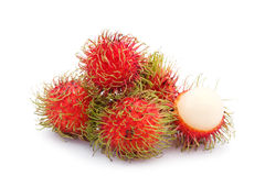 Fresh rambutan Stock Photos