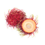 Fresh rambutan isolate on white background Royalty Free Stock Photos