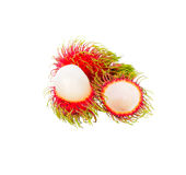 Fresh Rambutan. Isolate on white background Royalty Free Stock Images