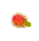 Fresh Rambutan. Isolate on white background Stock Photo