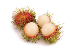 Fresh rambutan isolate on white background.  Stock Photo