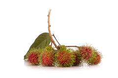 Fresh rambutan isolate on white background.  Stock Photography