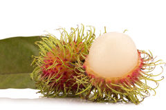 Fresh rambutan isolate on white background.  Royalty Free Stock Photos
