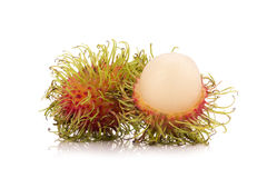 Fresh rambutan isolate on white background.  Royalty Free Stock Photography