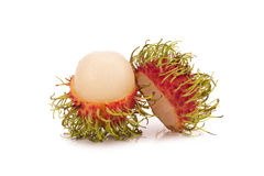 Fresh rambutan isolate on white background.  Royalty Free Stock Images