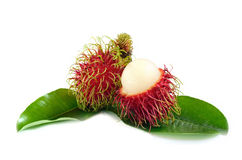 Fresh Rambutan isolate on white background Royalty Free Stock Image