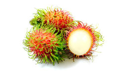 Fresh rambutan on isolated background. Thailand fresh rambutan on isolated background Stock Photography