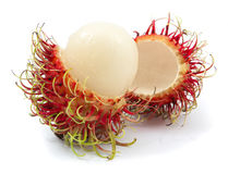 Fresh rambutan isolated. On white background Stock Photography