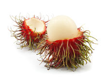 Fresh rambutan isolated. On white background Royalty Free Stock Photos