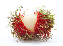Fresh rambutan isolated. On white background Stock Photo