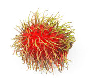 Fresh rambutan isolated. On white background Royalty Free Stock Photo