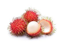 Rambutan isolated on white background. Fresh rambutan isolated on white background Stock Photography