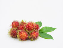 Fresh rambutan isolated on white. Fresh rambutan group isolated on white background Stock Image