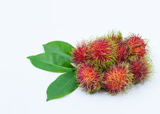 Fresh rambutan isolated on white. Fresh rambutan group isolated on white background Stock Photography