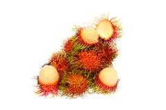 Fresh rambutan with rambutan stag. Fresh rambutan  with rambutan stag ,fruit has a sweet taste Stock Photos