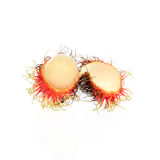 Fresh rambutan with rambutan stag. Fresh rambutan with  rambutan stag ,fruit has a sweet taste Royalty Free Stock Photography