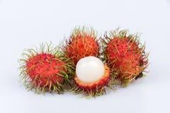 Fresh rambutan : rambutan sweet delicious fruit on white backgro. Und Royalty Free Stock Photo