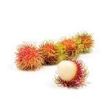 Fresh Rambutan from Rayong Thailand isolated on white background Royalty Free Stock Photography
