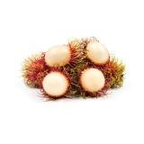 Fresh Rambutan from Rayong Thailand isolated on white background Royalty Free Stock Photo