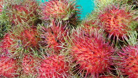 Fresh and sweet Rambutan Stock Photos