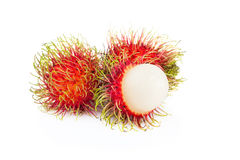 Fresh rambutan sweet delicious fruit of Thailand.  Royalty Free Stock Photos