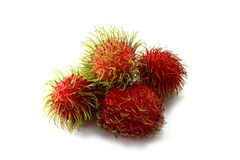 Fresh rambutan sweet delicious on white backdrop. Rambutan Fruit is Peeled off on the white Background Royalty Free Stock Photo