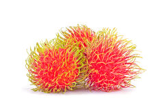 Fresh rambutan sweet delicious on white background healthy rambutan tropical fruit food  Stock Image