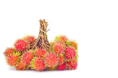 Fresh rambutan sweet delicious on white background healthy rambutan tropical fruit food isolated Stock Photography