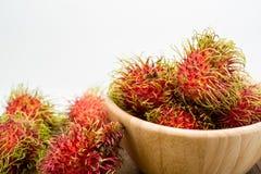 Fresh rambutan, tropical fruit.  Royalty Free Stock Images