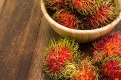 Fresh rambutan, tropical fruit.  Stock Photo