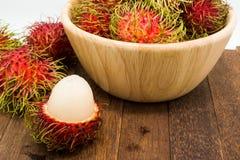 Fresh rambutan, tropical fruit.  Stock Photography
