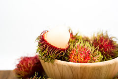 Fresh rambutan, tropical fruit.  Stock Images
