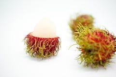 Fresh rambutan, tropical fruit.  Royalty Free Stock Photography