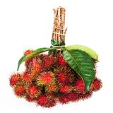 Fresh rambutan. On a white background Stock Photography