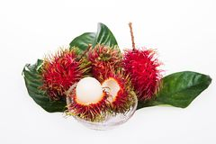 Fresh rambutan. On the white background Stock Photo