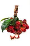 Fresh rambutan. On the white background Royalty Free Stock Images