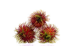 Fresh rambutan. On white background Royalty Free Stock Photos
