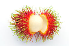 Fresh rambutan. On white background Royalty Free Stock Image