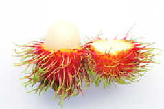 Fresh rambutan. On white background Stock Photo