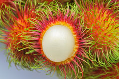 Fresh rambutan. On white background Stock Photos