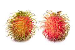 Fresh rambutan. On white background Royalty Free Stock Photography
