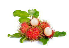 Fresh rambutan on white background. Fresh rambutan on a  white background Stock Photo