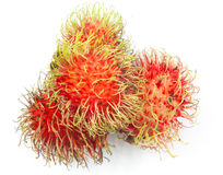 Fresh rambutan. On white background Royalty Free Stock Images