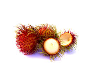 Fresh rambutan. Fresh rambutan on a white background Stock Image