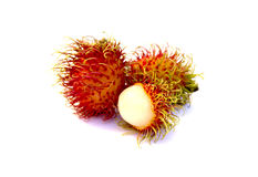 Fresh rambutan. Fresh rambutan on a white background Royalty Free Stock Photography