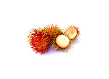Fresh rambutan. Fresh rambutan on a white background Royalty Free Stock Photo