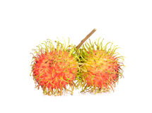 Fresh rambutan on white background. Fresh rambutan isolated on white background Stock Photos