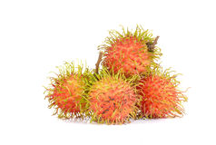 Fresh rambutan on white background. Fresh rambutan isolated on white background Stock Photo
