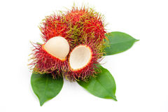 Fresh rambutan  on white. Fresh rambutan group  on white background Stock Photography